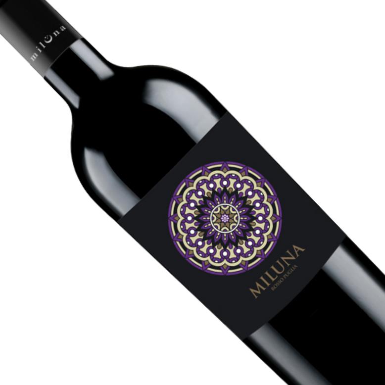 Vinho Italiano Tinto Miluna Rosso Puglia IGP 2018 - 750ML
