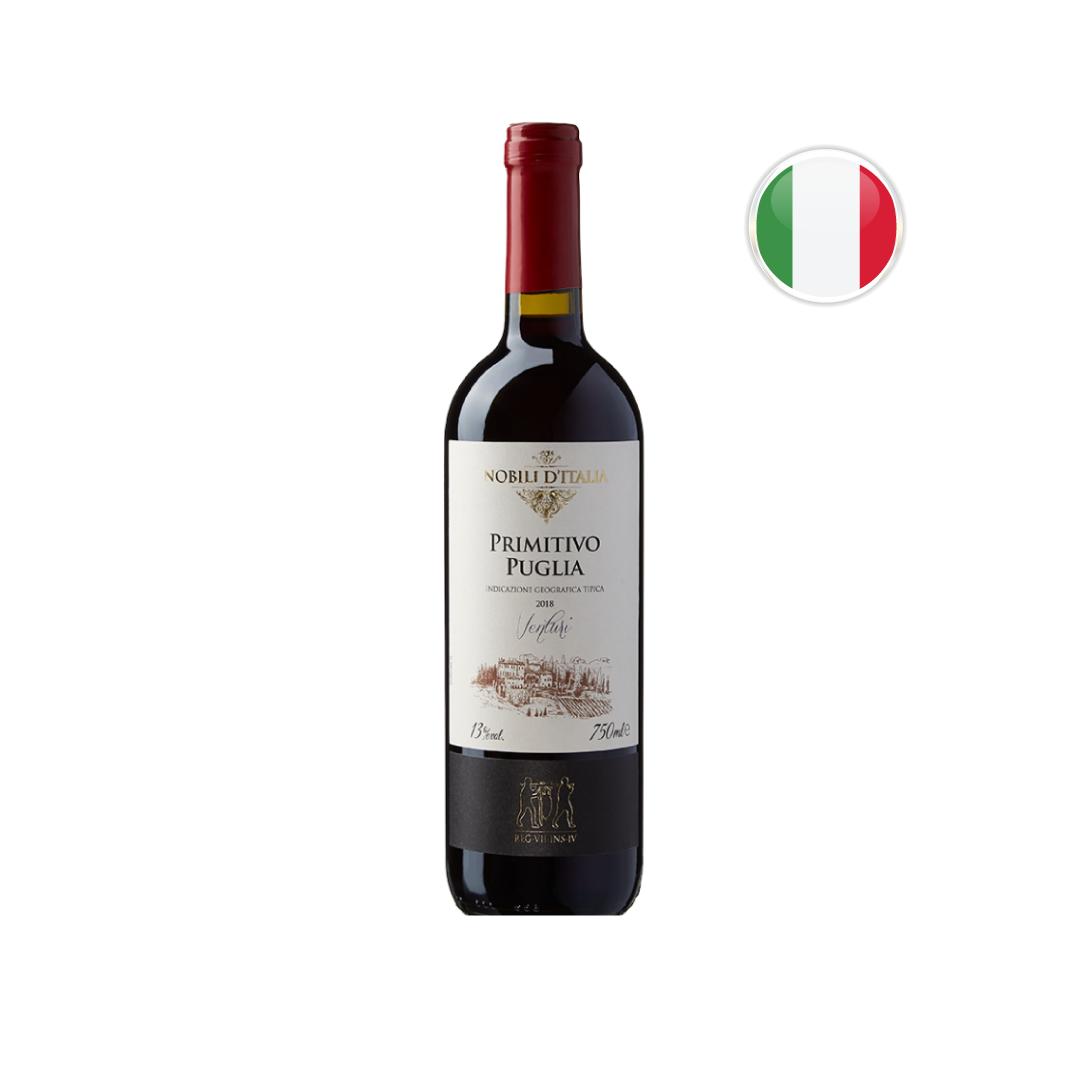 Vinho Italiano Tinto SC Nobili D' I Primitivo Di Puglia Garrafa 750ML