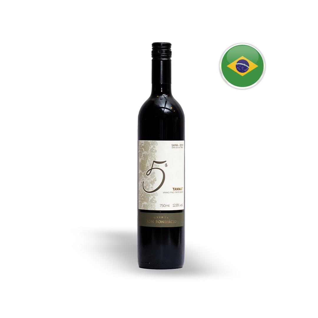 Vinho Nacional Tinto Quinta Don Bonifácio 5ª Tannat Garrafa 750ML