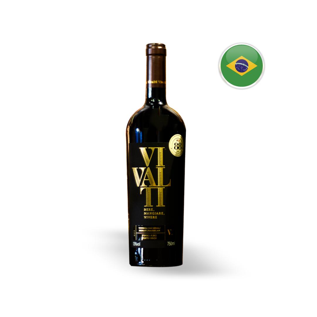 Vinho Nacional Tinto Vivalti Touriga Nacional Garrafa 750ML