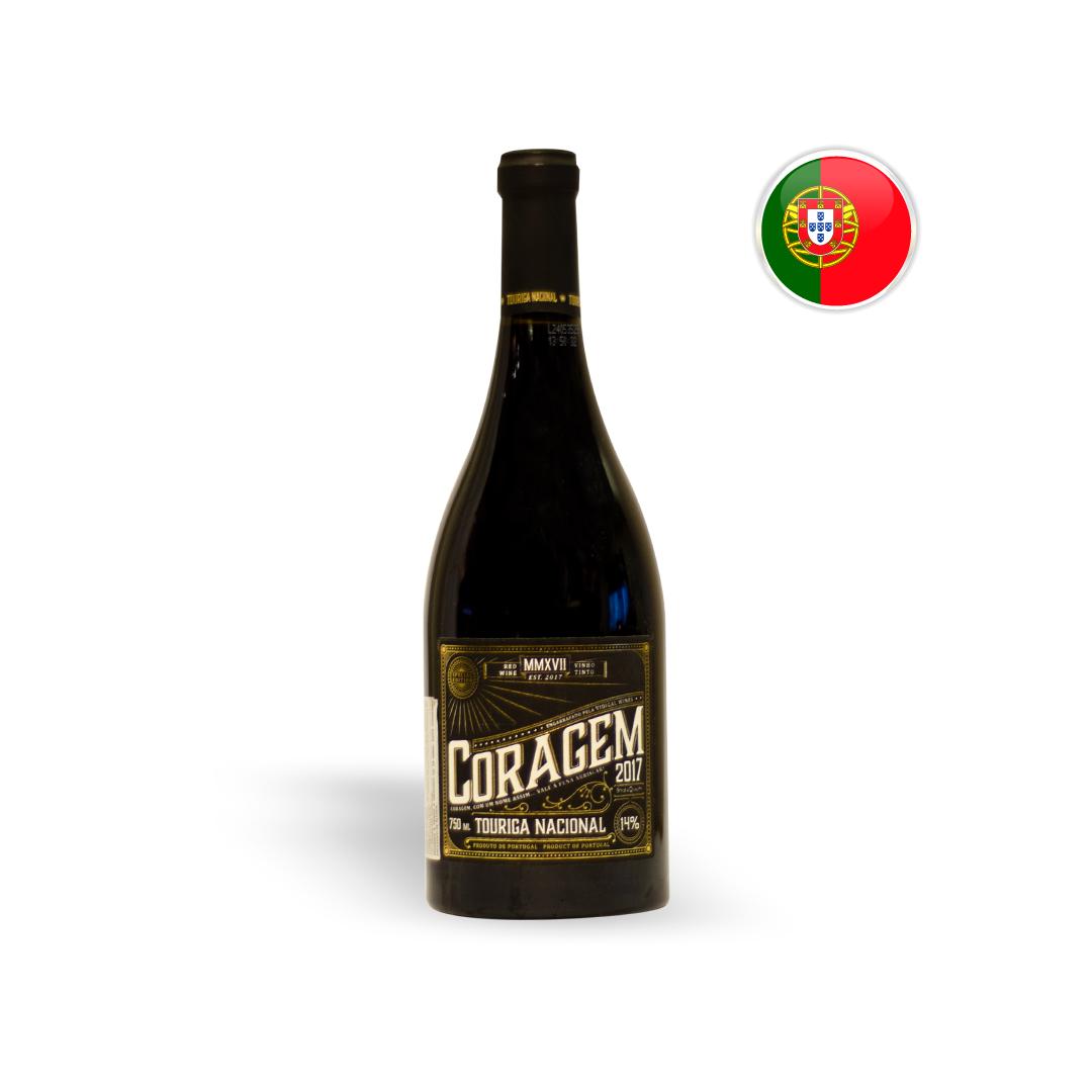 Vinho Português Tinto Coragem Touriga Nacional Garrafa 750ML