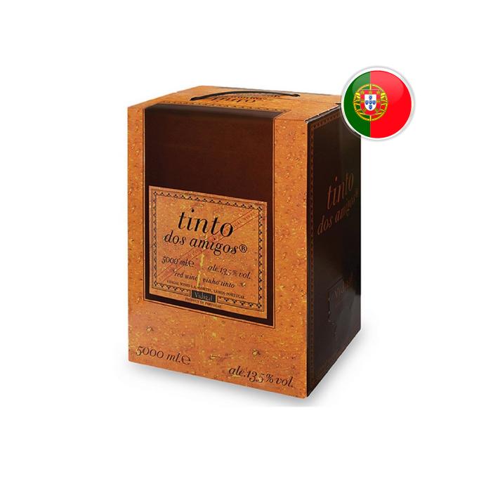 Vinho Português Tinto dos Amigos Bag in Box - 5 Litros
