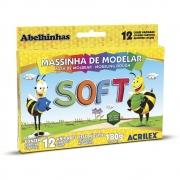 MASSA DE MODELAR ACRILEX SOFT 12 CORES
