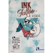 Papel Stencil Ink Tattoo 50 Folhas Roxo Comp C/H85