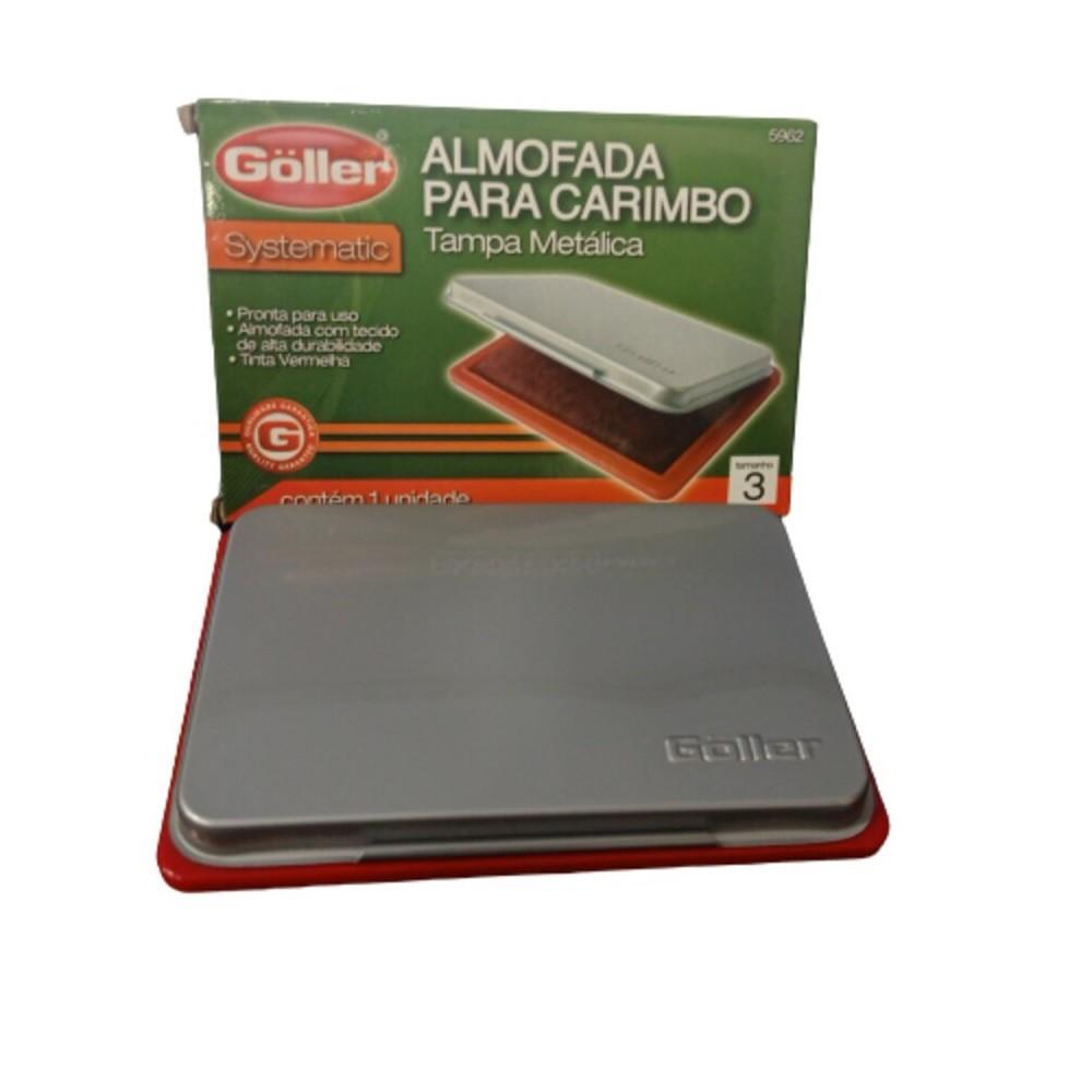 ALMOFADA PARA CARIMBO GOLLER N°3 TAMPA METÁLICA