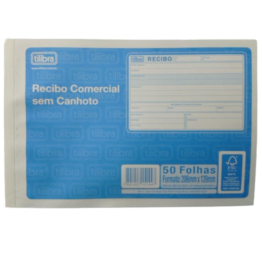 BLOCO COMERCIAL SEM CANHOTO TILIBRA 50 FOLHAS 206mm X 139mm