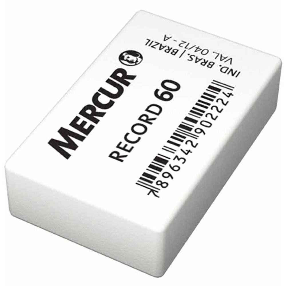 BORRACHA MERCUR BRANCA RECORD 60 - CAIXA COM 60UN