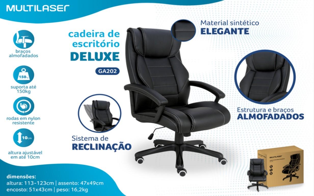 CADEIRA PRESIDENTE DELUXE MULTILASER GA202