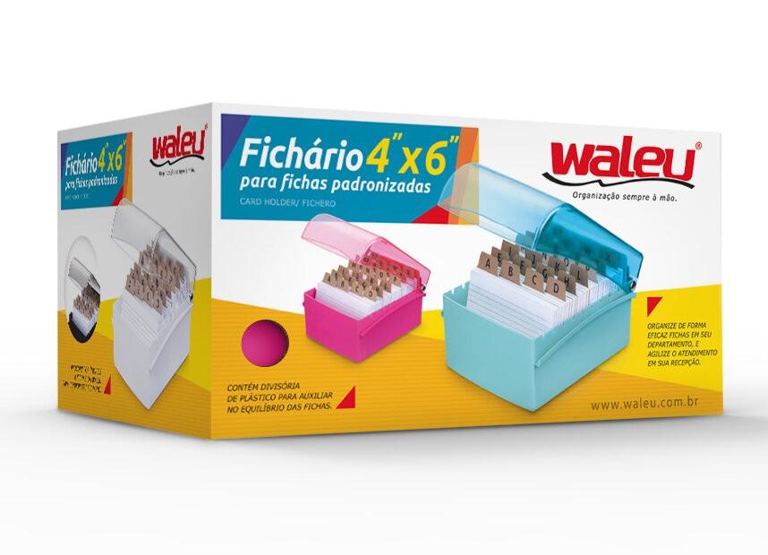 FICHÁRIO DE MESA WALEU 4 X 6 PARA FICHAS PADRONIZADAS