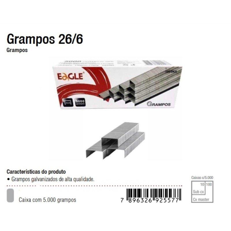 GRAMPOS GALVANIZADO EAGLE CAIXA COM 5 MIL
