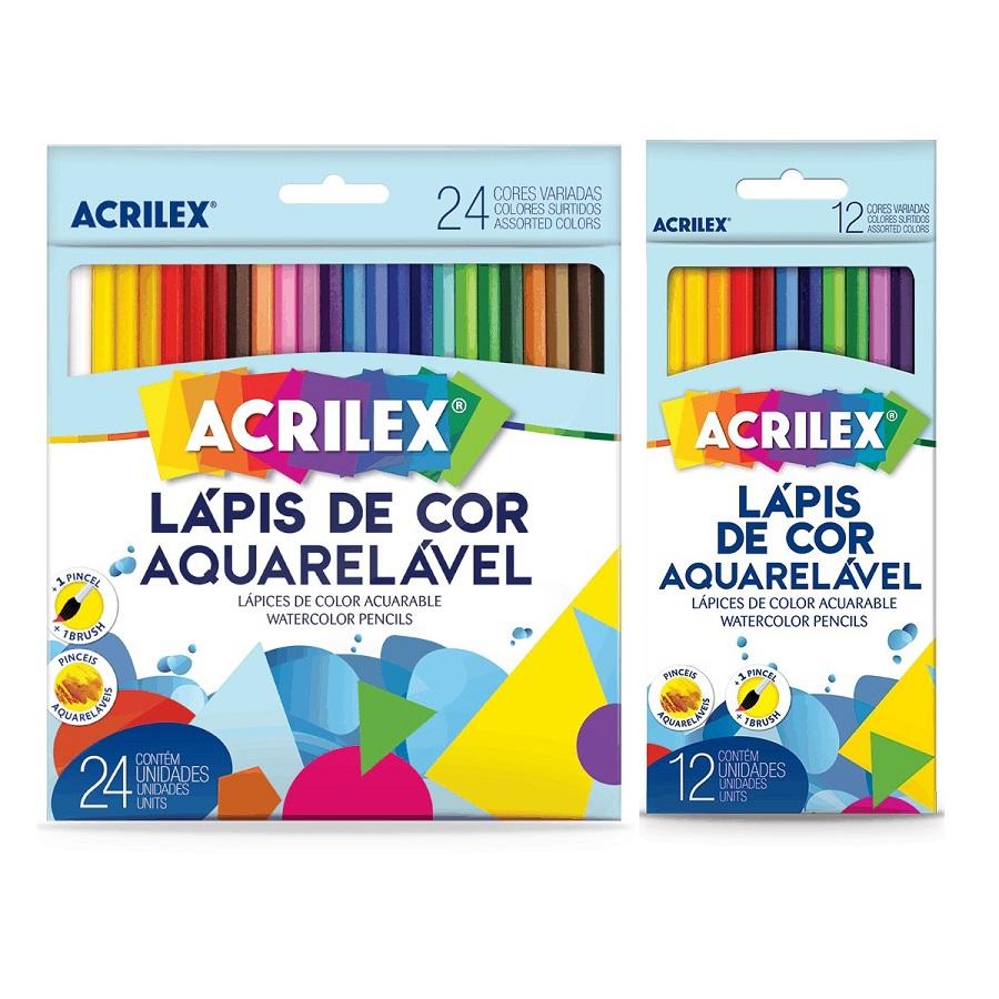 LÁPIS DE COR AQUARELÁVEL ACRILEX