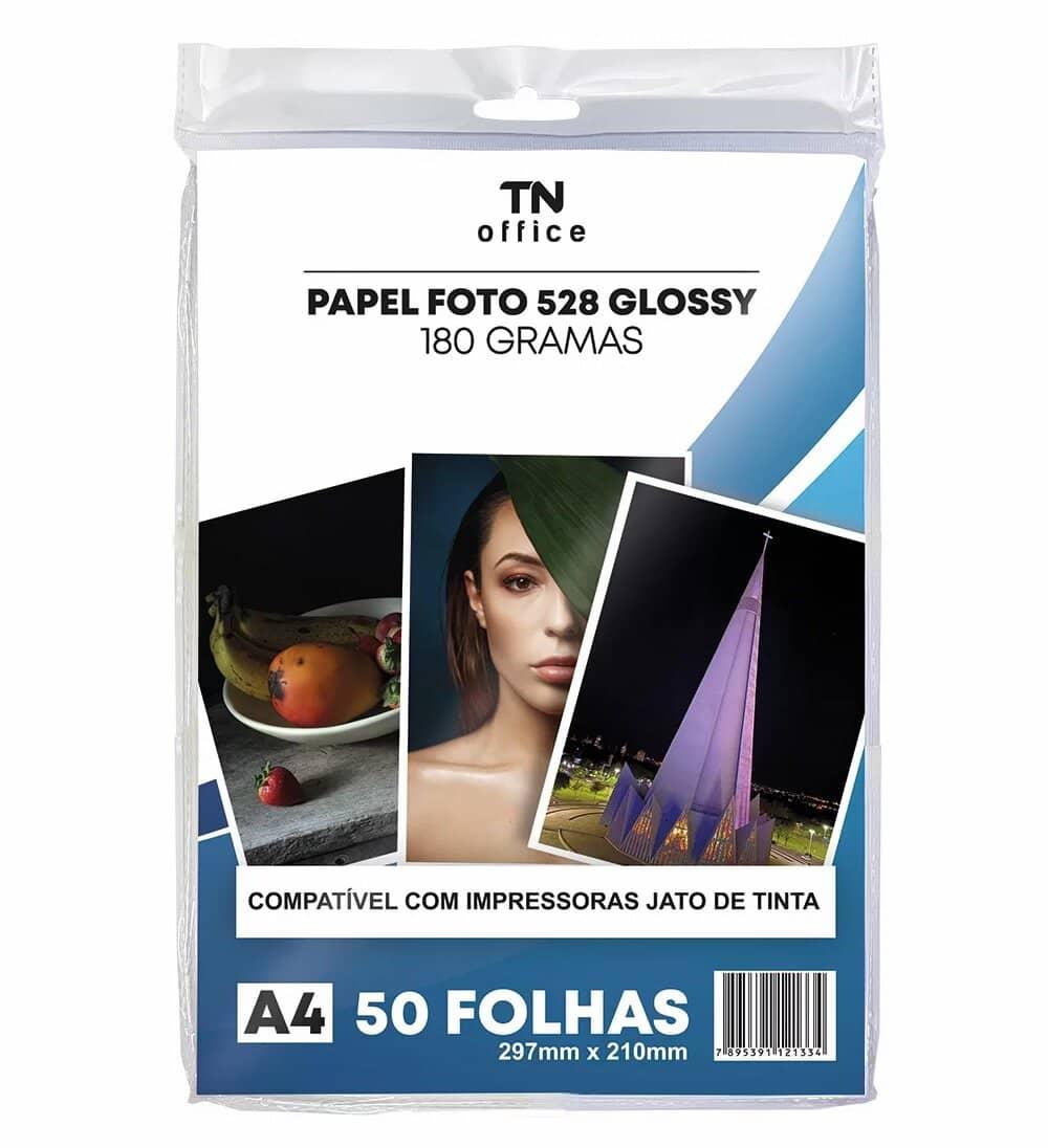 PAPEL FOTO GLOSSY 180G COM 50 FOLHAS TN 528