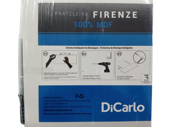 PRATELEIRA DICARLO FIRENZE BRANCA