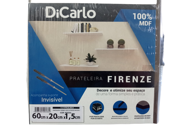 PRATELEIRA DICARLO FIRENZE NOGAL