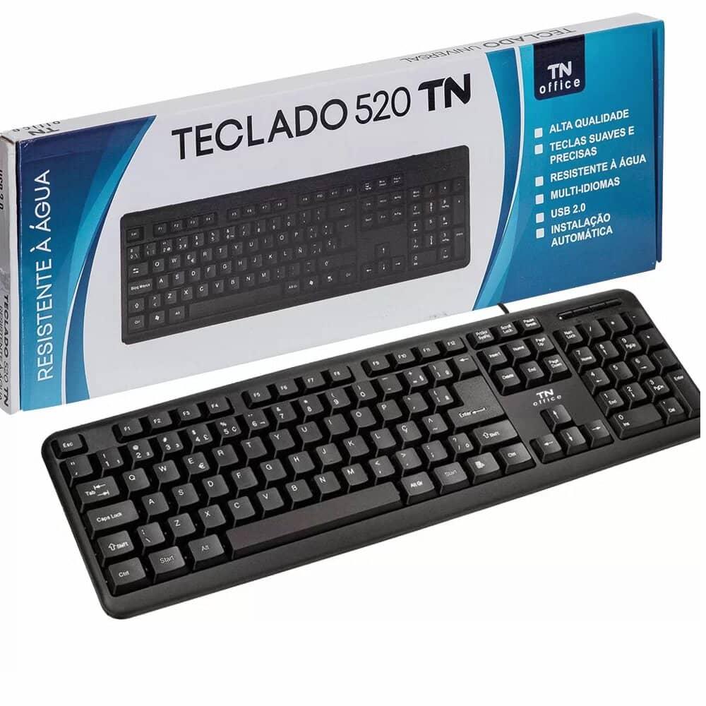 TECLADO COM FIO PRETO TN OFFICE