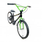 Bicicleta Nathor Aro 20 Aço Masculino Charlie Raiada Preto_Verde