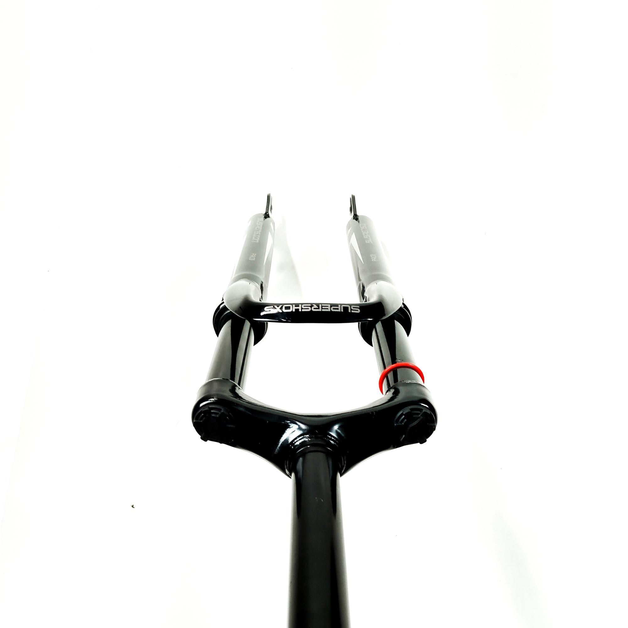 Amortecedor de Bike Suspensão Sem Trava Sem Regulagem Paco 29 Suspensao Aco Sem Trava Sem Regulagem Ahead Set Preto