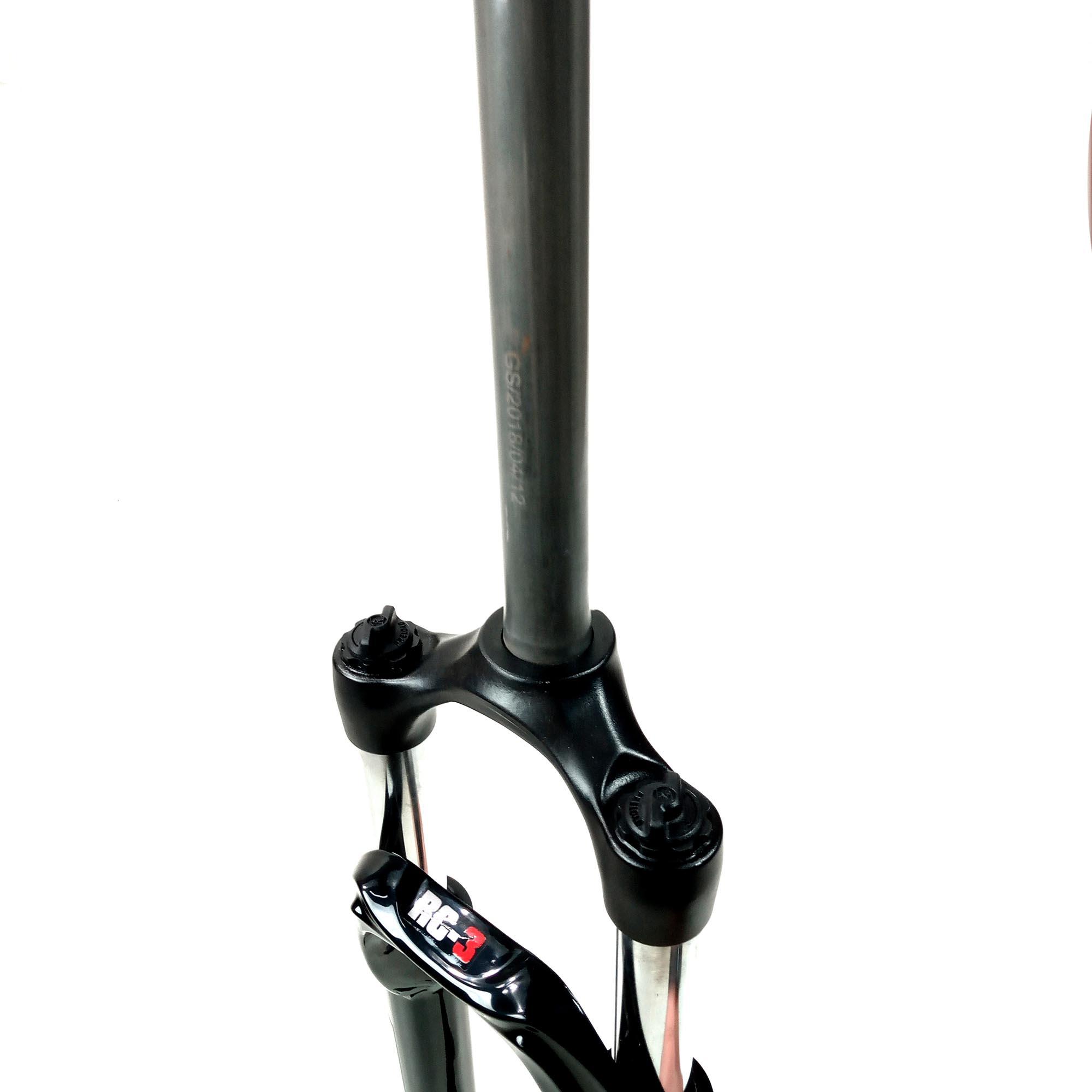 Amortecedores de Bike a Mola sem Trava 29Ltx  Suspensao Com Regulagem Ahead Set  Preto T900 RC3 Molas