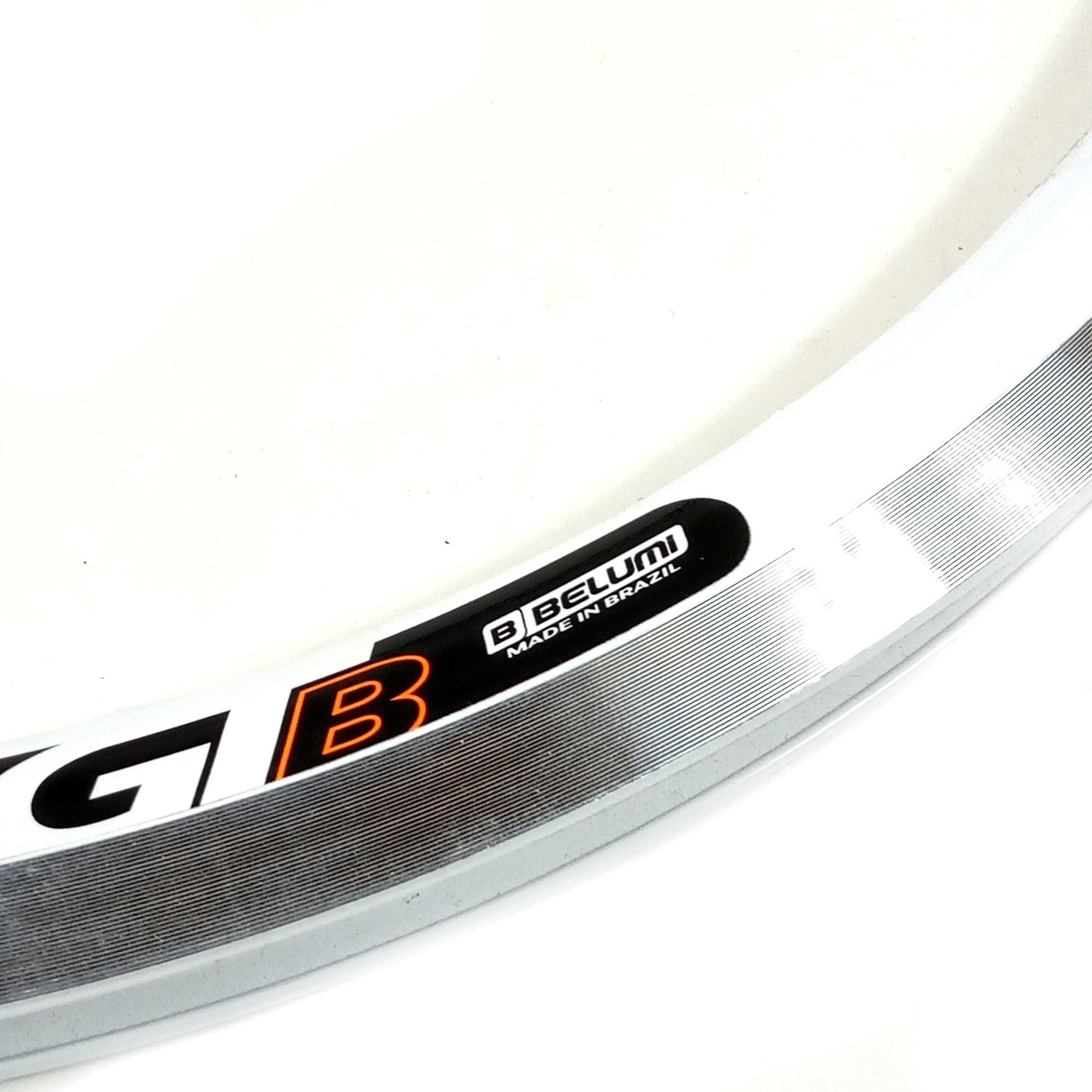 Aro de Bicicleta 20 Belumi Aluminio Aero 36f Branco
