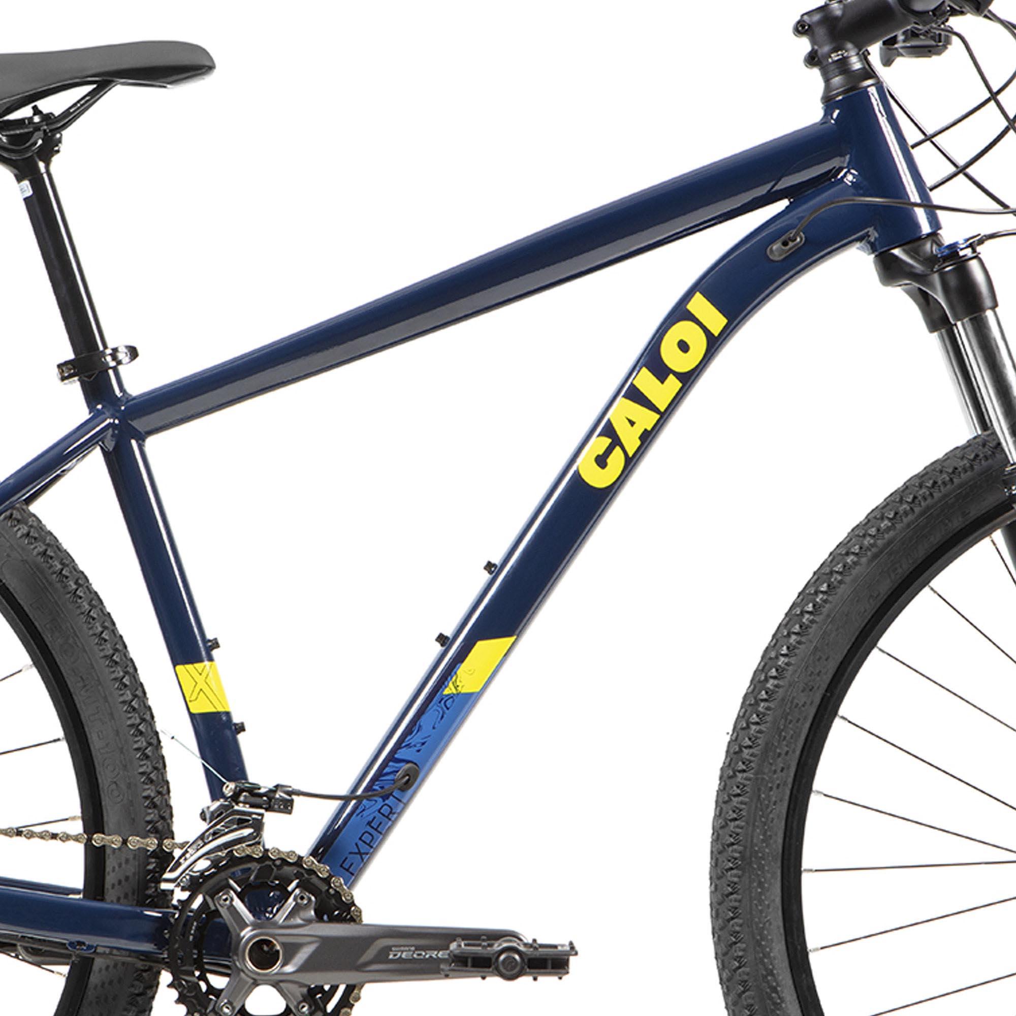 Bicicleta Aro 29 Caloi Explorer Expert, Suspensão Rock Shox Judy TK, Freio Shimano MT200
