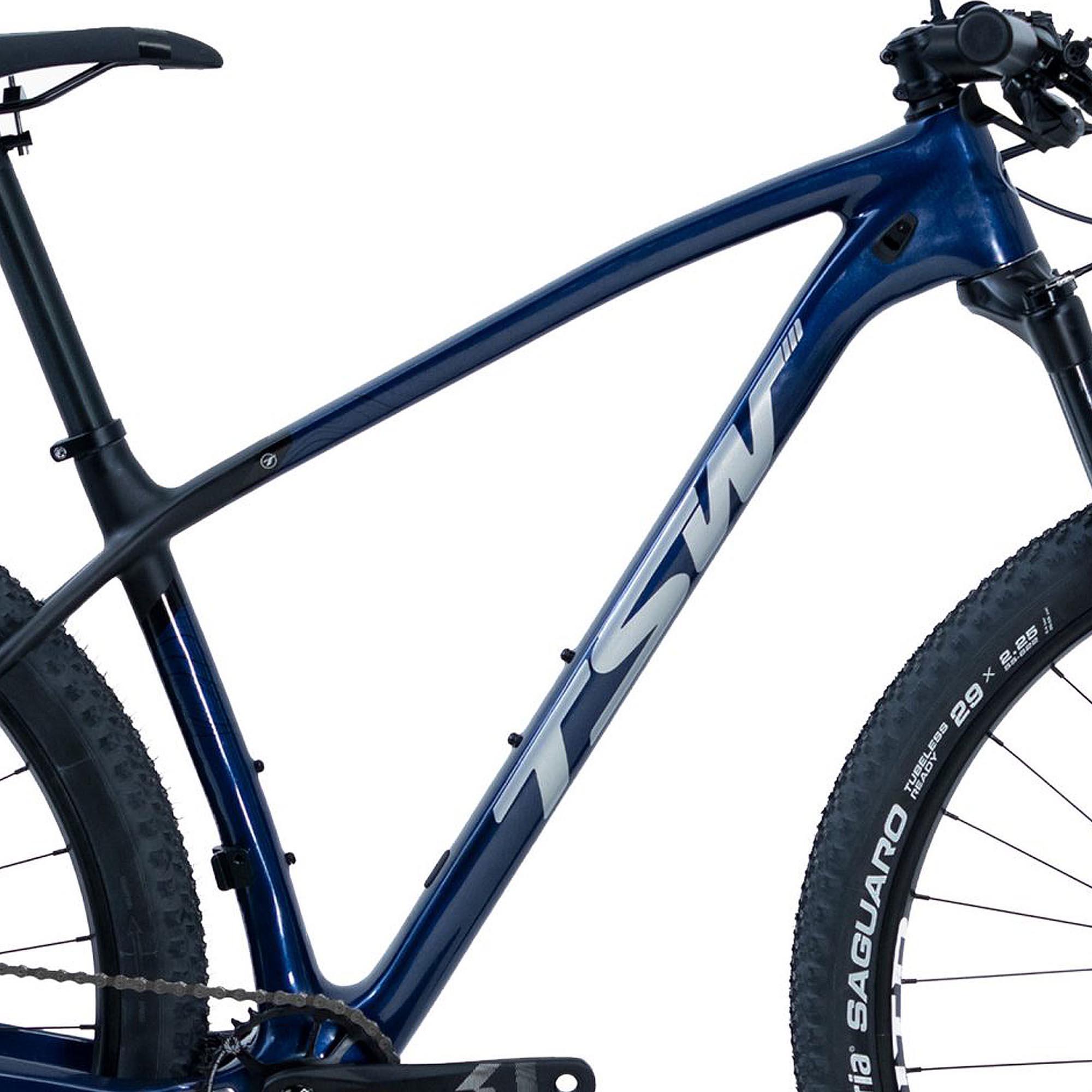 Bicicleta Aro 29 TSW Evo Quest SX Sram, Quadro de Carbono, Suspensão Rock Shox Judy TK, Freio Shimano