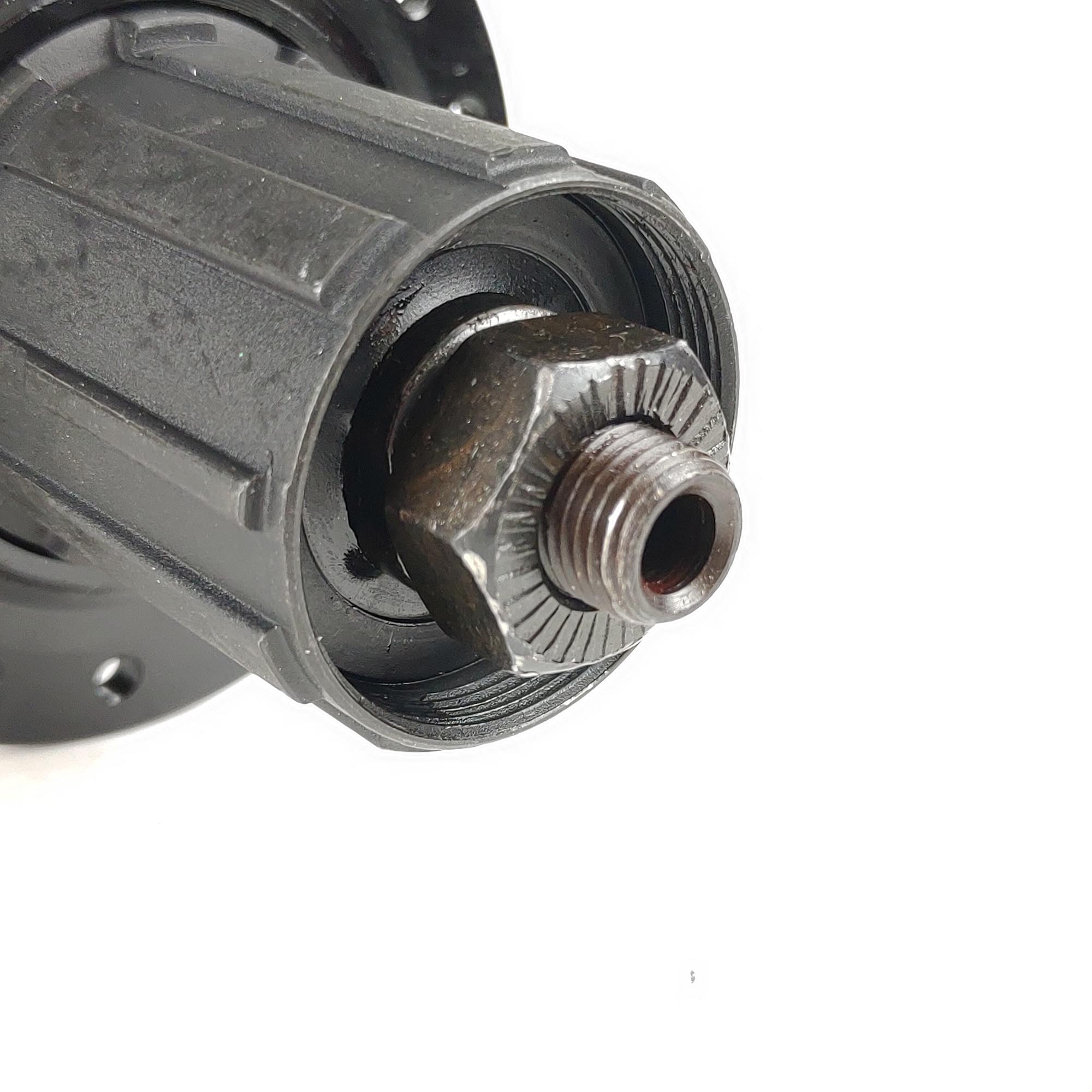 Cubo de Bicicleta Cassete Steez Aluminio Dianteiro Traseiro Rolamentado Com Blocagem Preto 32f K7 Disc