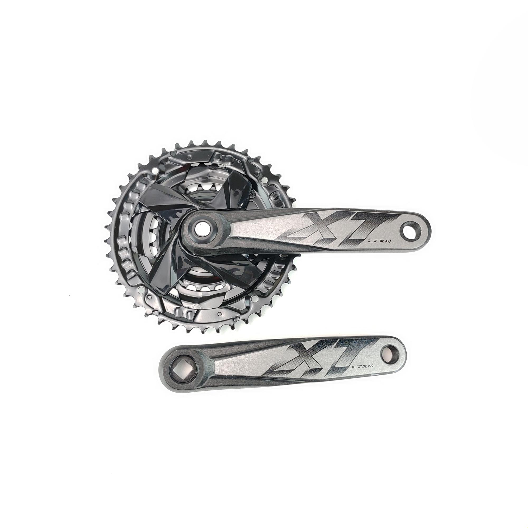 Pedivela Bike Triplo Ltx Aluminio 24_34_42 9v Grafite Sem Protetor