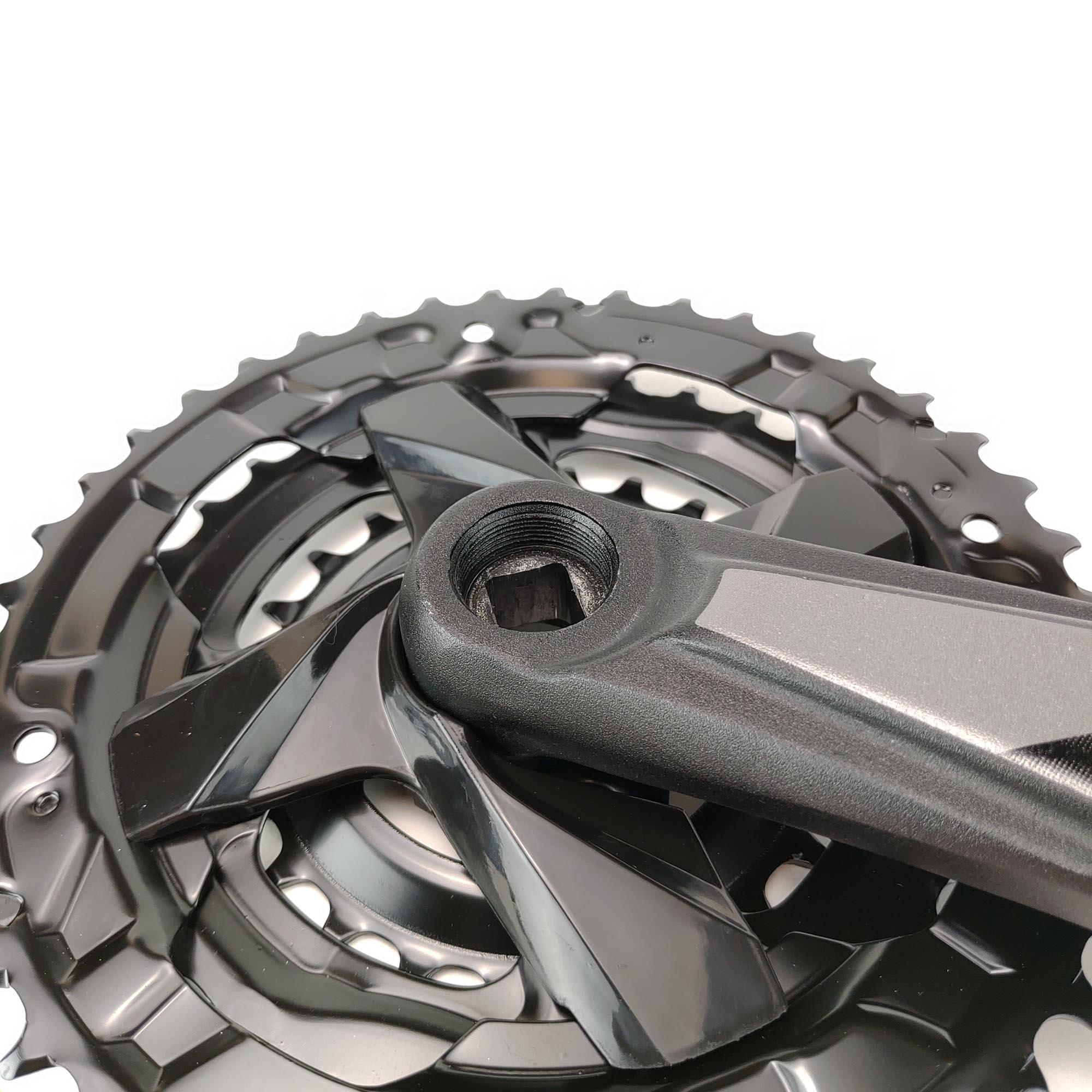 Pedivela Bike Triplo Ltx Aluminio 24_34_42 Grafite Sem Protetor