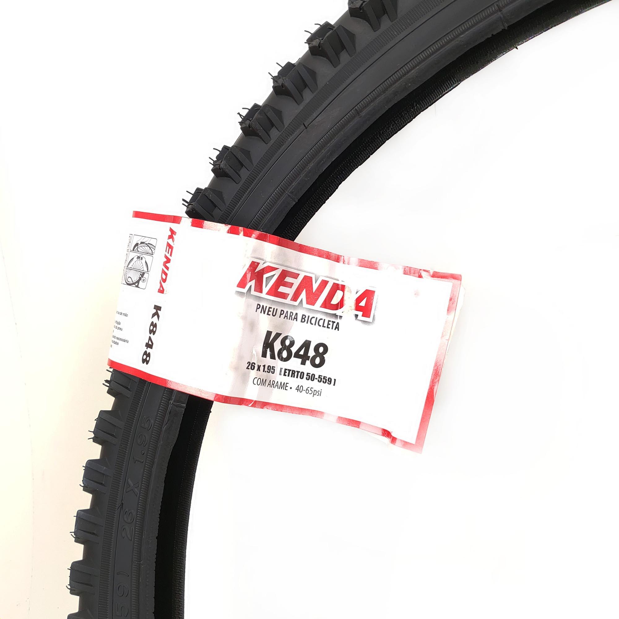 Pneu de Bicicleta Aro 26 Kenda 1.95 Mtb K848