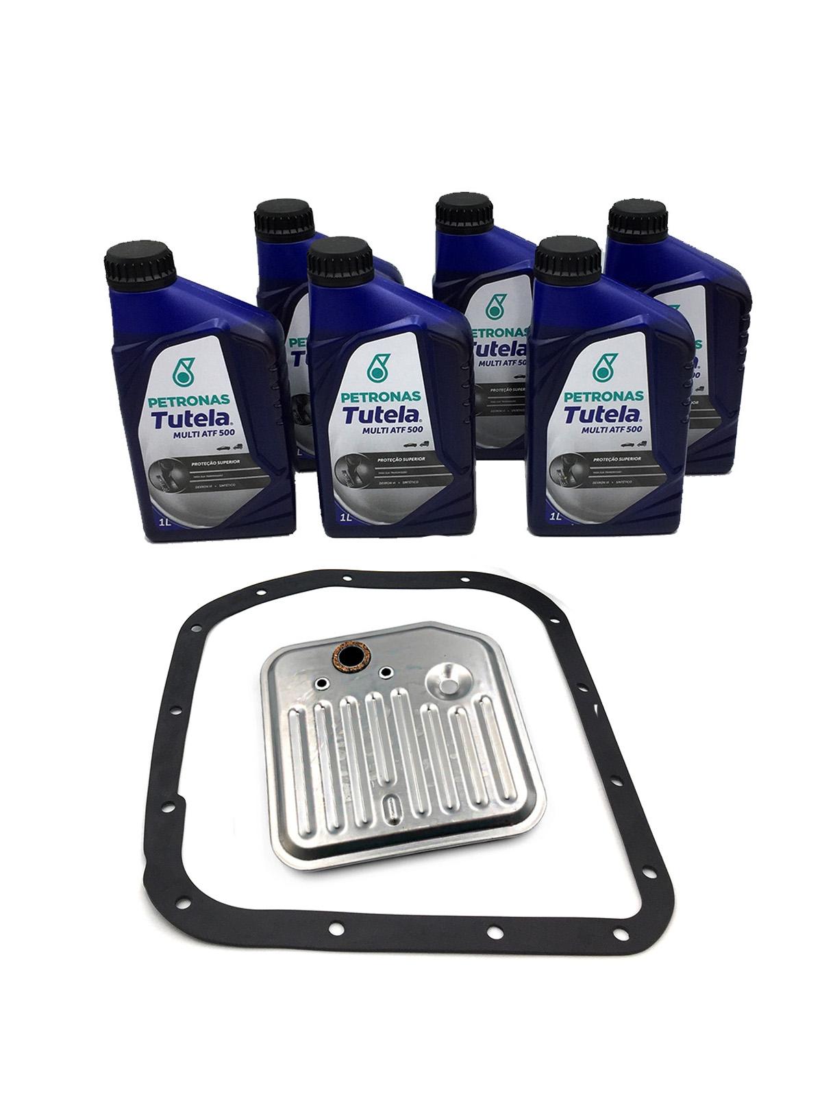 Kit Troca de Óleo Petronas Tutela Multi ATF 500 | Dexron VI (06 Lts.) com Filtro de Óleo - Câmbio A500 - Dodge e Jeep