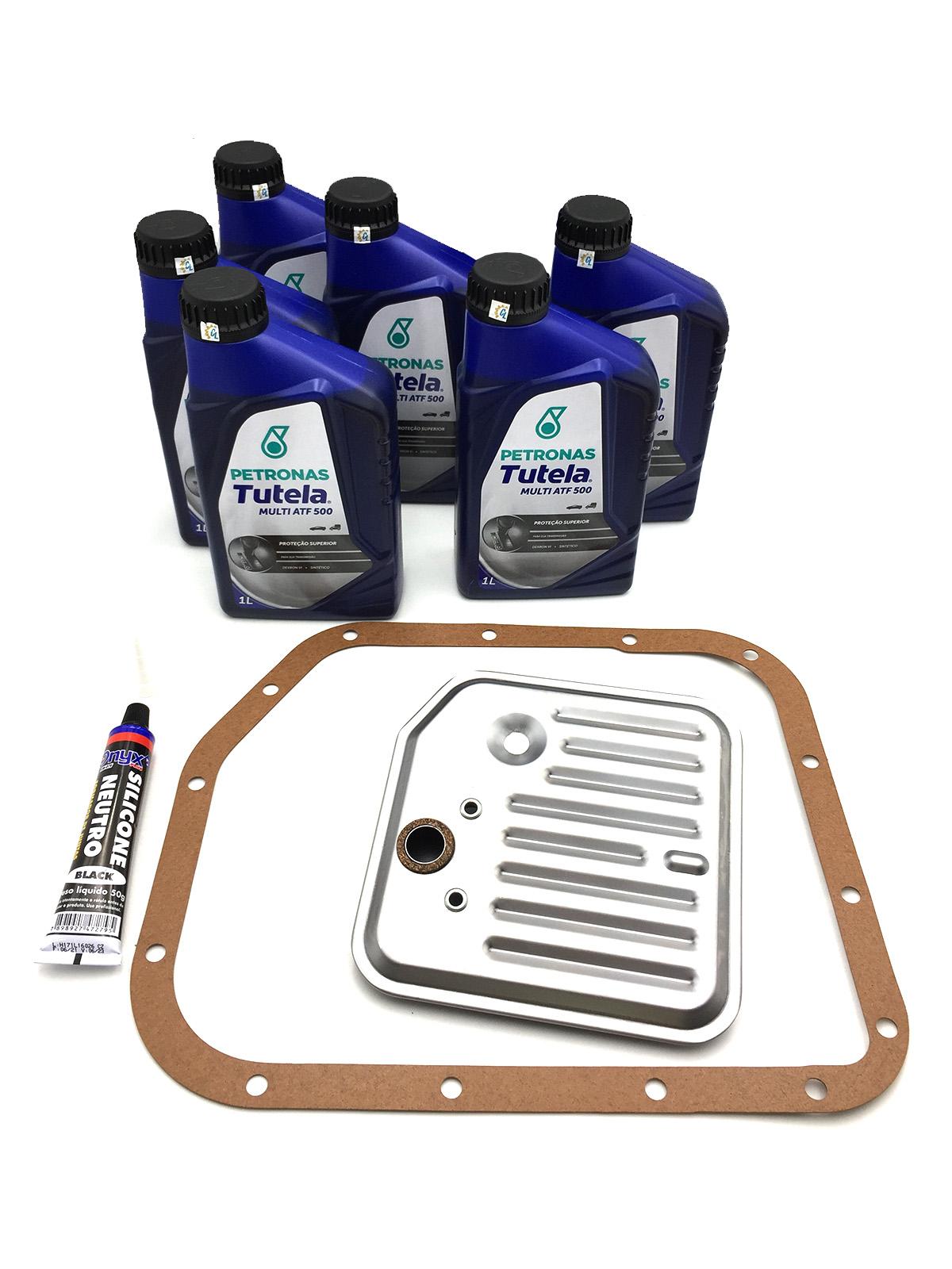 Kit Troca de Óleo Petronas Tutela Multi ATF 500|Dexron VI (06 Lts.) com Filtro de Óleo - Câmbio A500 - Jeep