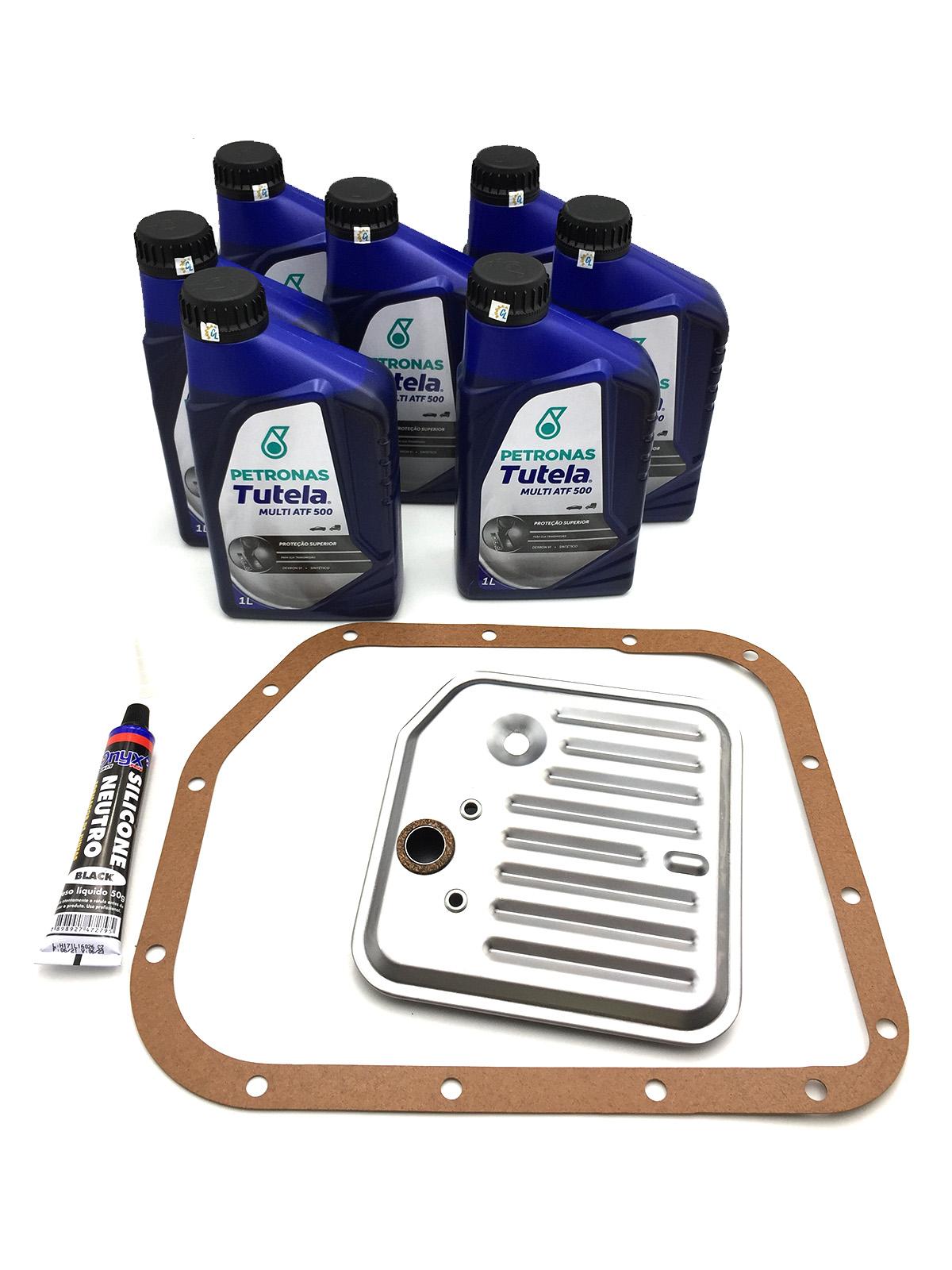 Kit Troca de Óleo Petronas Tutela Multi ATF 500|Dexron VI (07 Lts.) com Filtro de Óleo - Câmbio A500 - Jeep