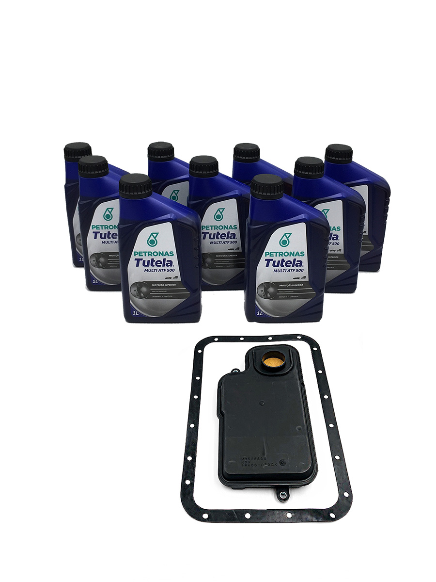 Kit Troca de Óleo Petronas Tutela Multi ATF 500|Dexron VI (10 Lts.) - Câmbio V4A51 - Mitsubishi