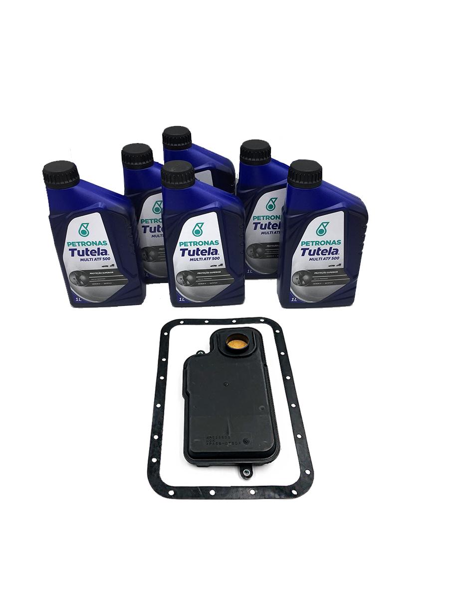 Kit Troca de Óleo Petronas Tutela Multi ATF 500| Dexron VI com Filtro de Óleo (06 Lts.) - Câmbio V4A51 - Mitsubishi