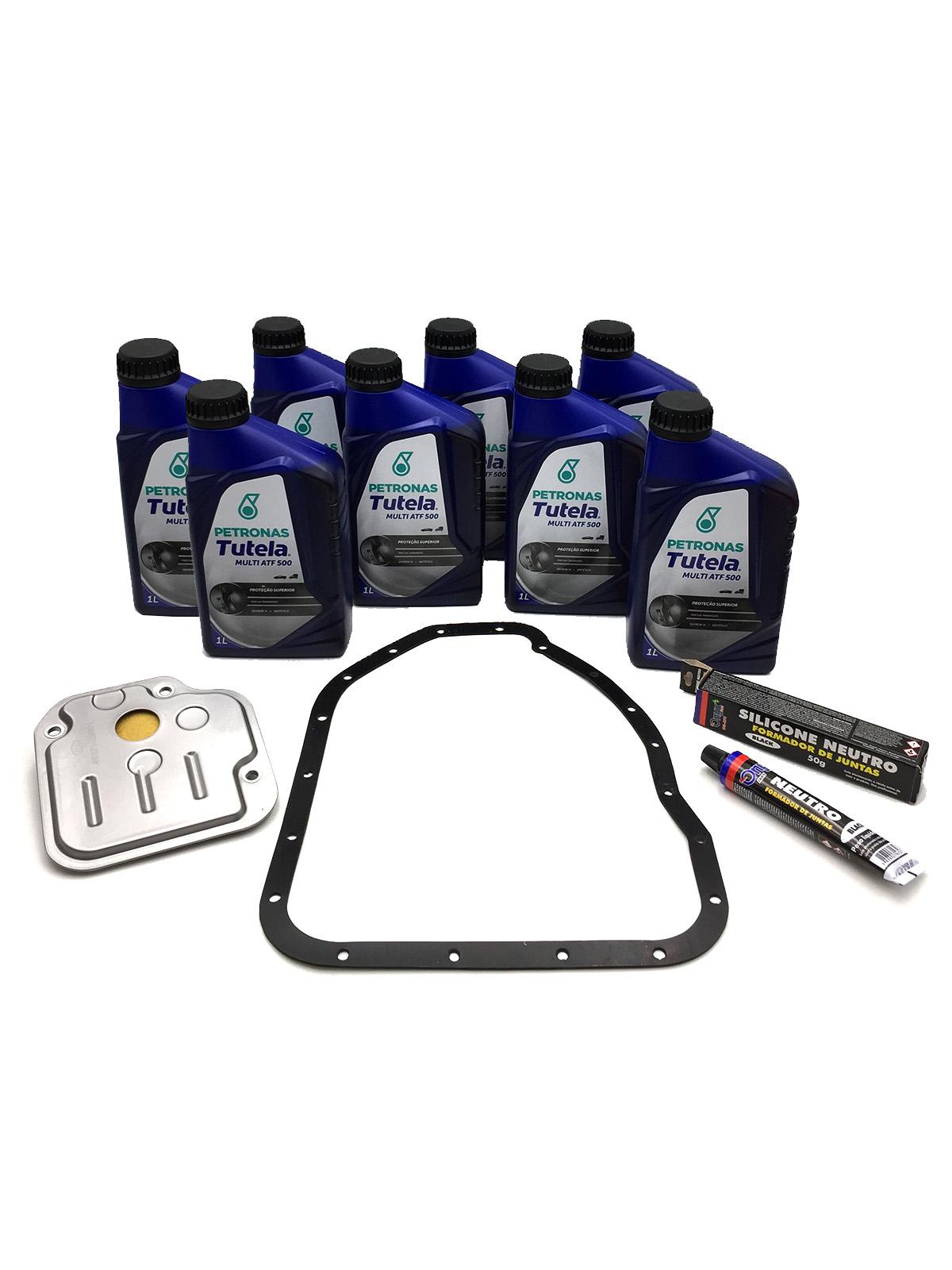 Kit Troca de Óleo Petronas Tutela Multi ATF 500 | Dexron VI (08 Lts.) - Câmbio A4CF1 - Hyundai