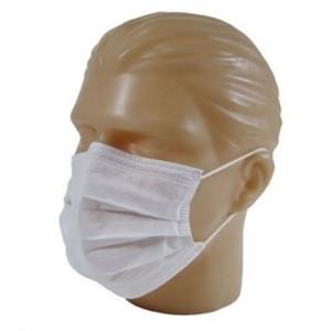 Máscara Tripla Descartável Branca  - c/ clips nasal -  c/ Elástico - Luvix