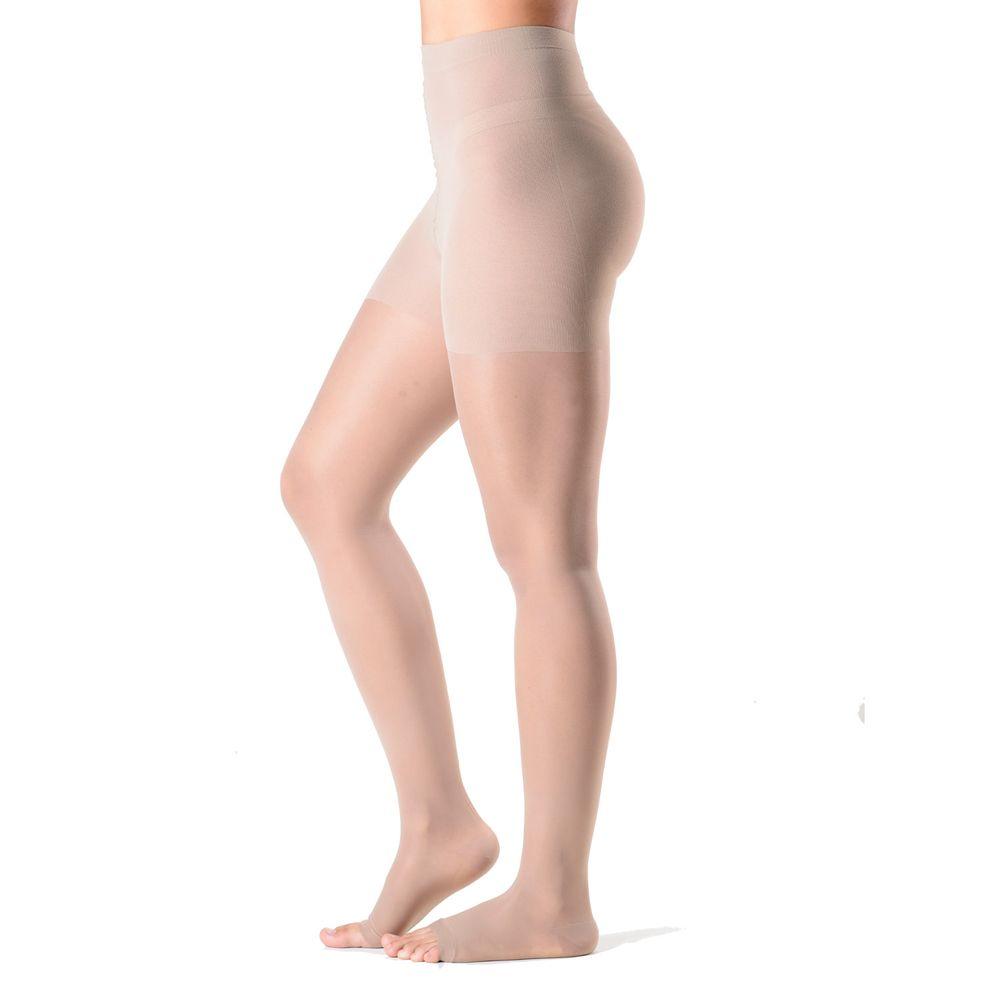 Meia de Compressão Audace - Meia Calça - 15-20mmHg - Aberta - Natural