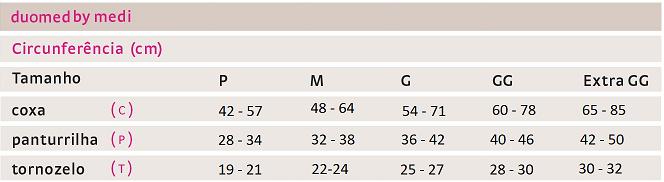 Meia de Compressão DUOMED - Ponteira Aberta - 20-30 mmHg - Medi