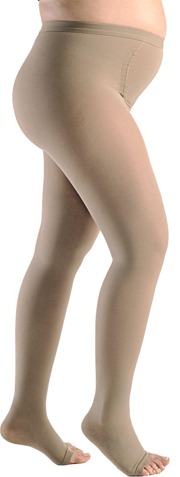 Meia de Compressão Materna Essencial Conforto - Meia Calça - 20-30 mmHg - Natural