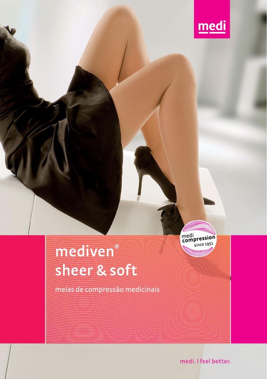 Meia de Compressão Sheer & Soft - Panturrilha - 20-30 mmHg - Preta - Medi
