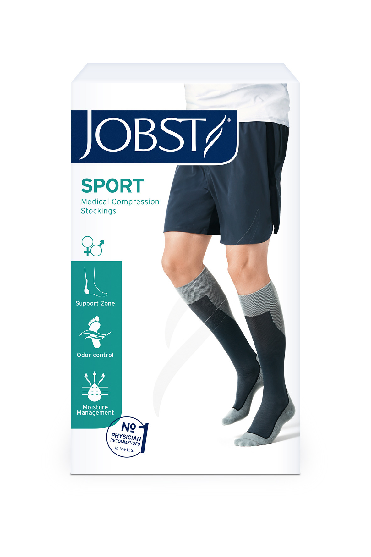Meia Jobst Sport - Panturrilha - 20-30 mmHg
