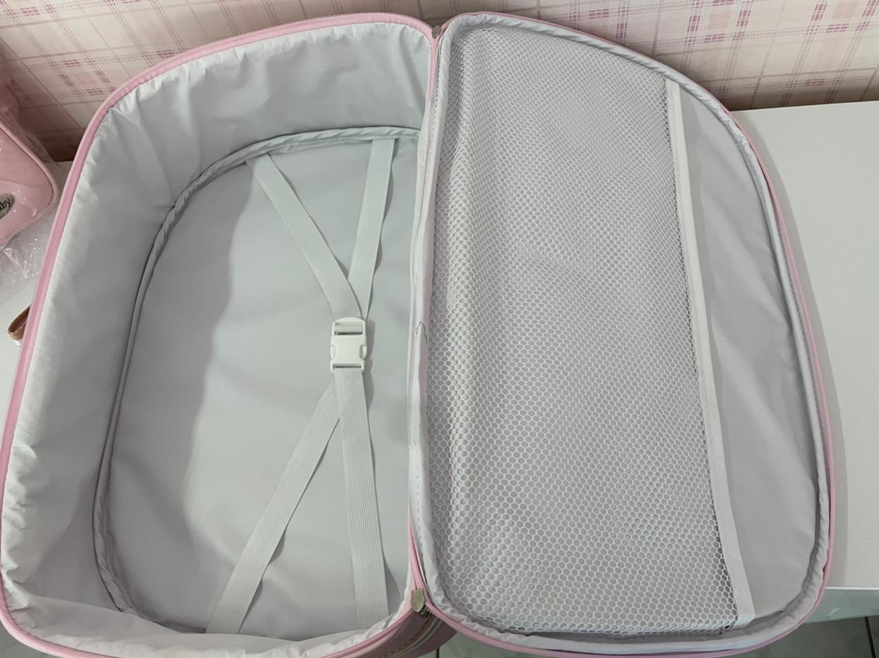 Kit de malas Premium Azul marinho com faixa vermelha