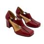 Sapato Salto MZQ Vermelho com Preto- cod:6001