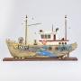 Barco Pesqueiro Envelhecido Azul com LED YM-88