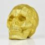 Caveira Decorativa Dourada em Resina YJ-55 B