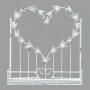 Enfeite Cesta Coração em Metal US-14