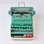 Enfeite Máquina de Escrever Azul LR-18