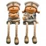 Enfeite Pequenos Marinheiros Jogo C/2 em Resina CY-63