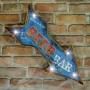 Placa Bar Retrô com LED MT-16