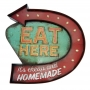 Placa Eat Here com luzes de LED MT-09